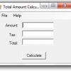 Visual Basic: Tax Calculator