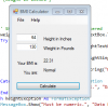 Visual Basic: BMI Calculator